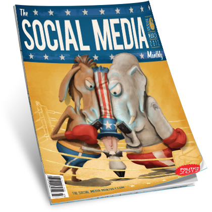 The Social Media Monthly - March Cover Issue Design