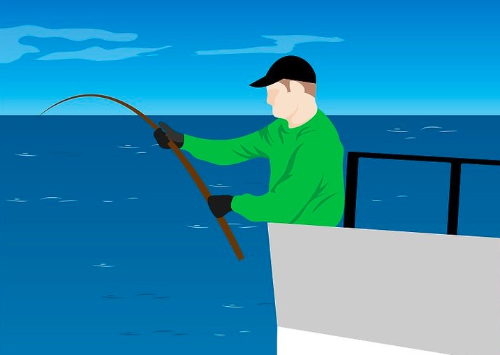landing a big fish