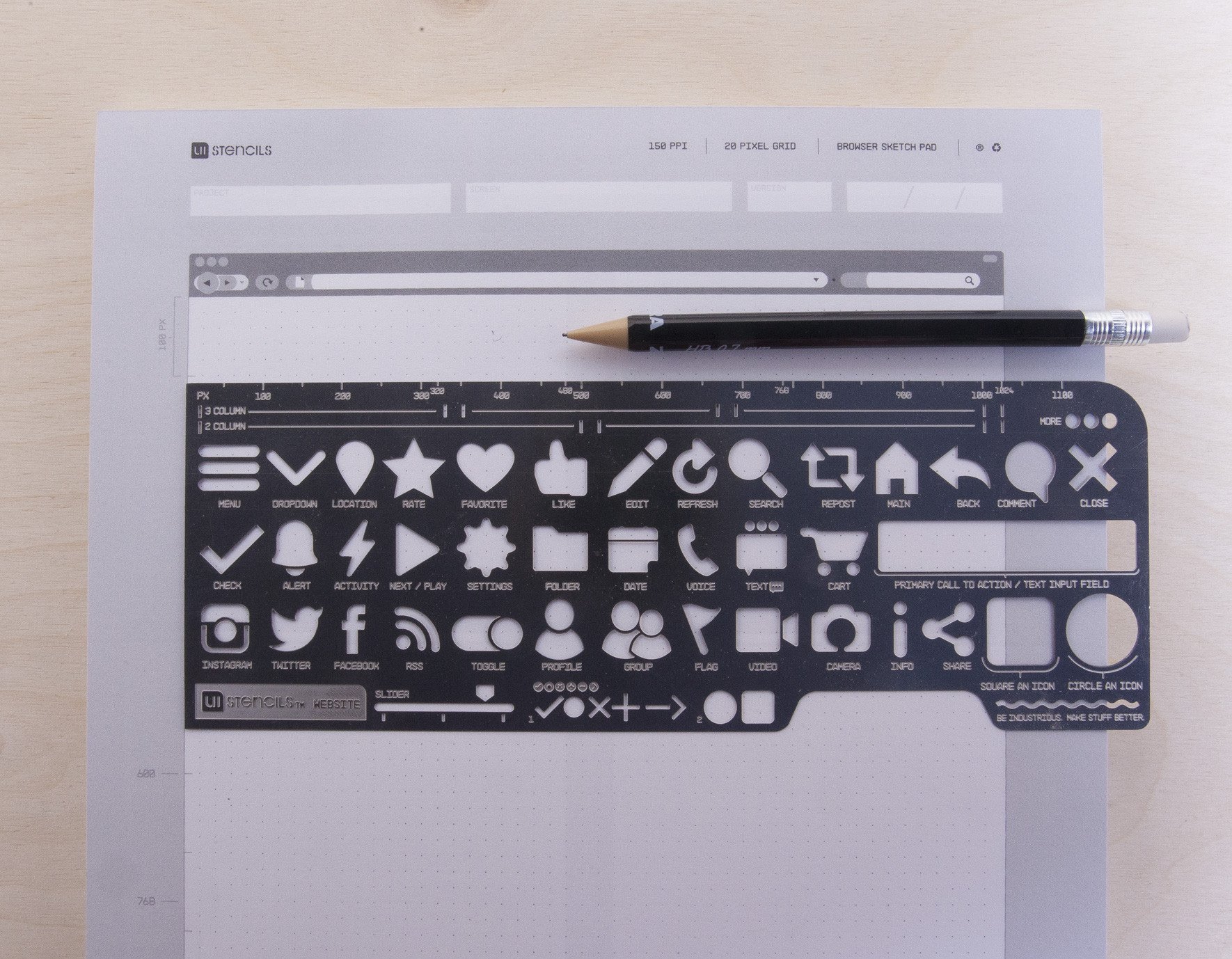 Website Stencil Kit from UI Stencils