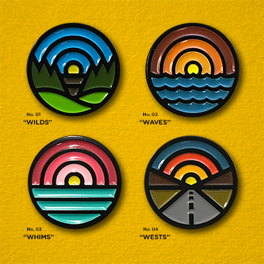 INCHxINCH - Enamel Pins from Draplin Design Co.