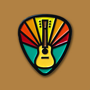 Gratifying Guitar - Enamel Pins from Draplin Design Co.
